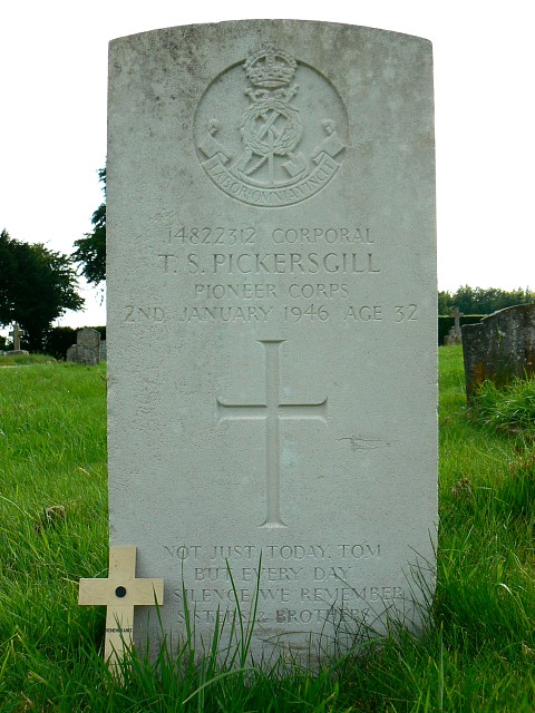 Grave of Corporal Pickersgill, Marlborough