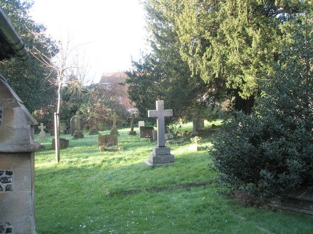 Gravestones in St Andrew's churchyard