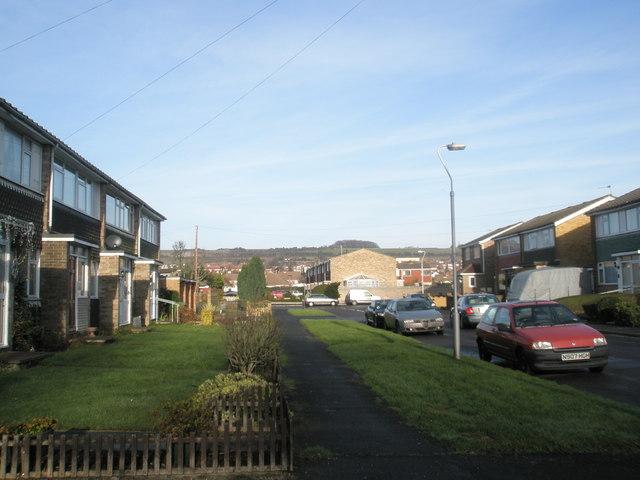 Looking up Cygnet Road towards Portsdown Hill