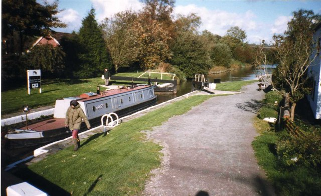 Kennet & Avon Canal lock at Wootton Rivers