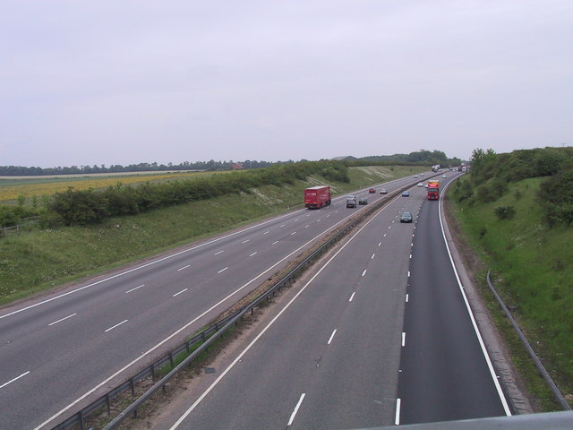 The A14 near Newmarket
