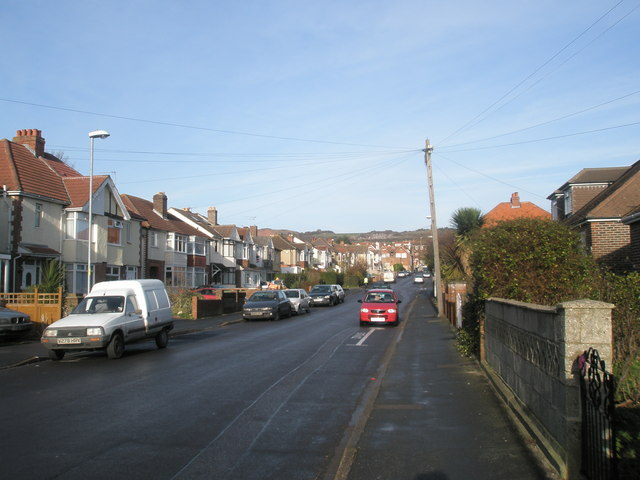 Top end of Lower Farlington Road