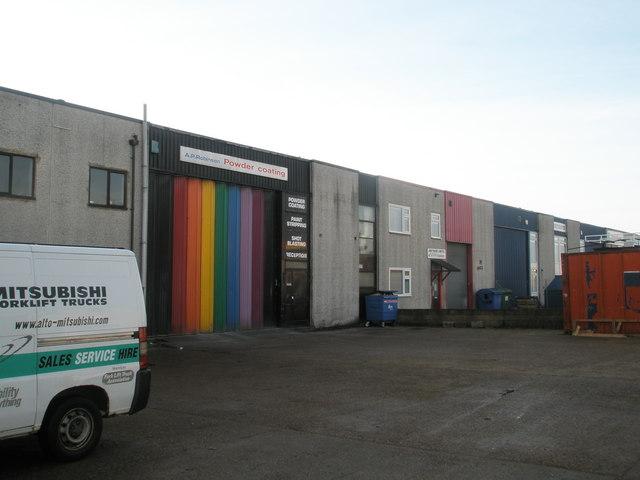 Colourful door in Fitzherbert Spur