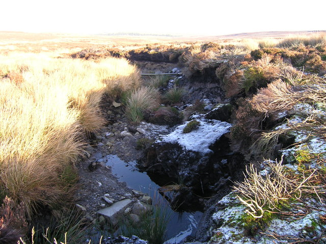 Partially frozen upper reaches of Sowden Beck