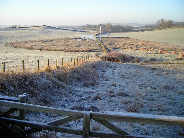 Icy Fields Near Meikle Barncleugh