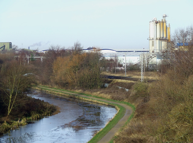 Canal and Factories, near Spring Vale, Wolverhampton