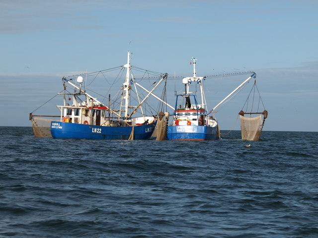 Shrimp trawlers off Hunstanton