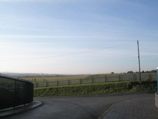 Looking across Farlington Waterworks towards Portsmouth