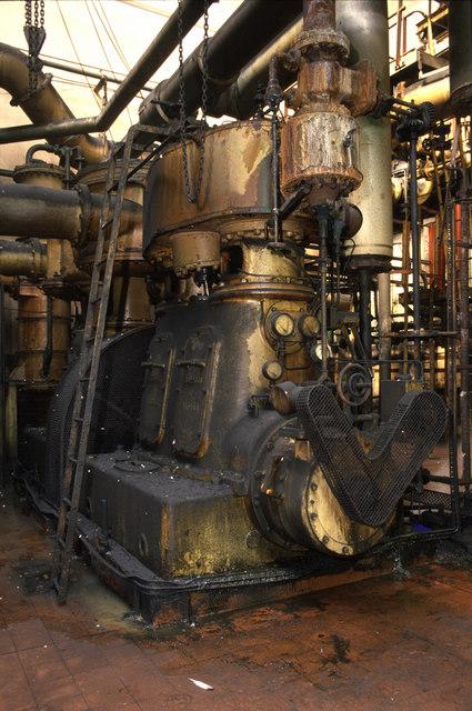 Steam driven compressor at Monkton Coking Works