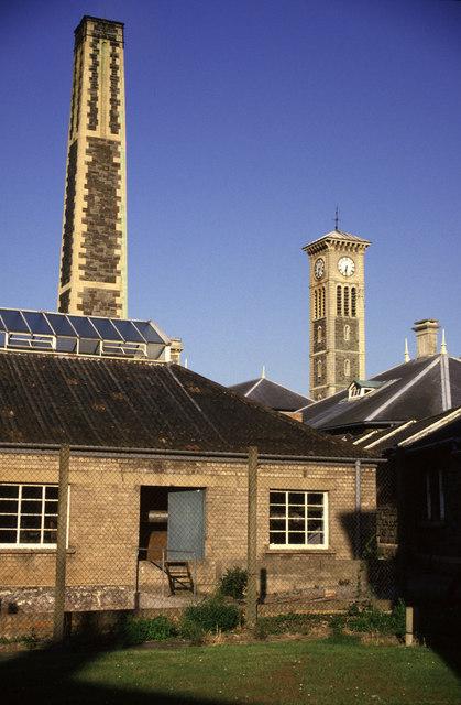 Glenside Hospital chimney and tower.