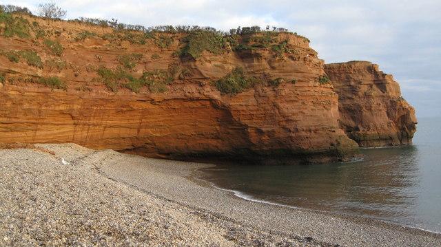 Ladram Bay - red sand stone cliffs
