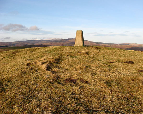 The trig point on Old Fawdon Hill