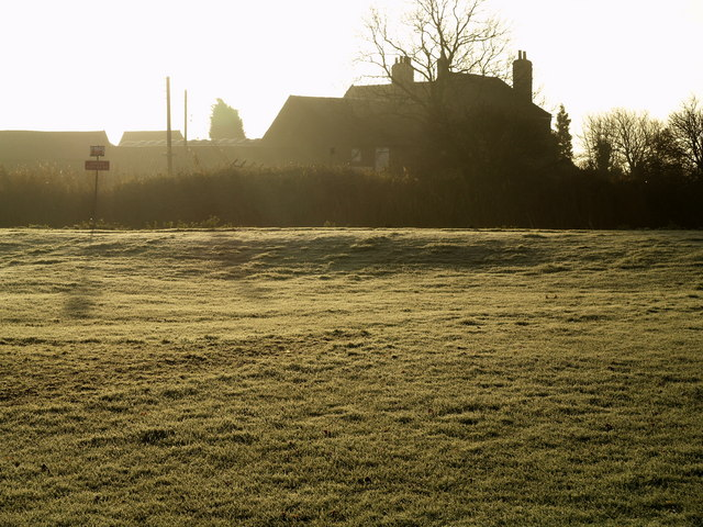 Harbour Farm from Far Bank on a Frosty Morning
