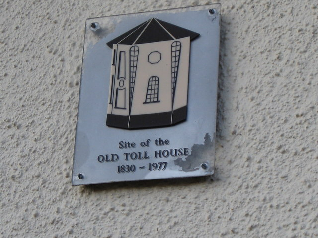 East Budleigh - site of toll house - commemorative plaque