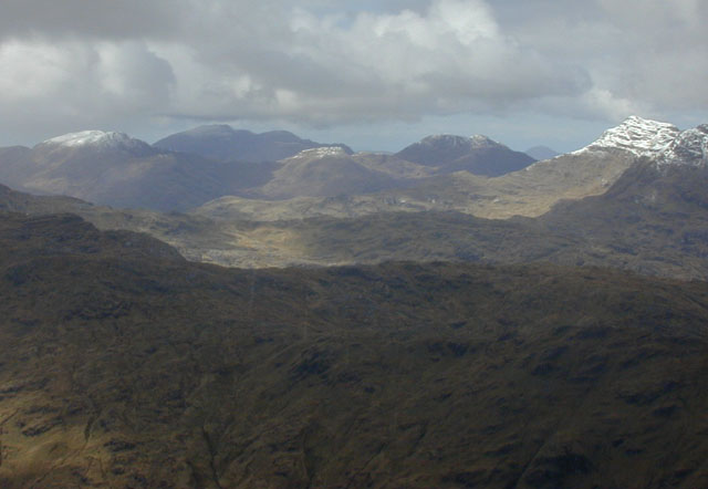 Looking northwest from Sgurr Thuilm to Knoydart