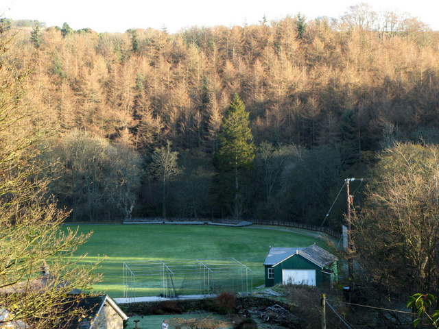 (Part of) the cricket ground on Riding Haugh