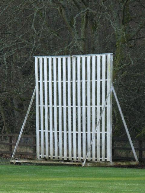 The cricket sightscreen