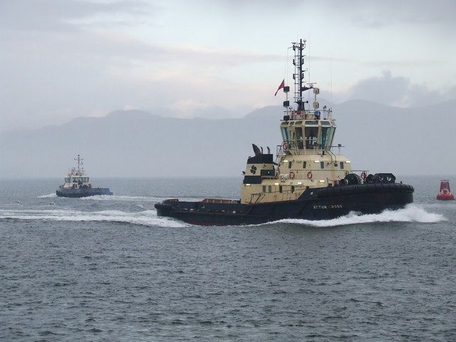 Tugs off Greenock