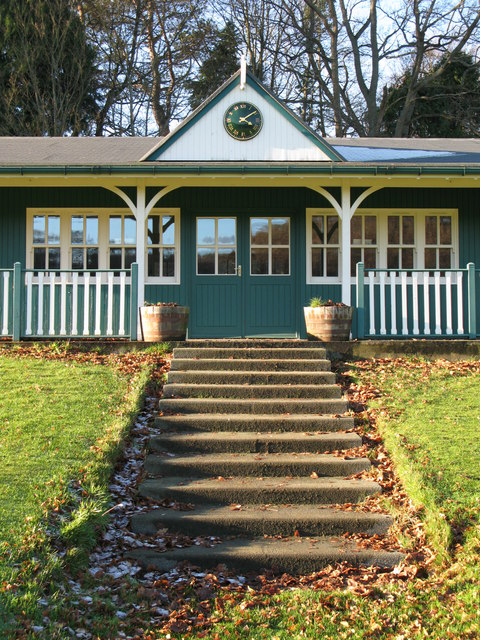 The cricket pavilion steps