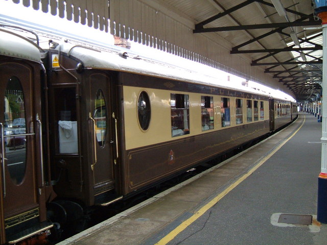 Pullman Cars in Platform 4 at Salisbury.