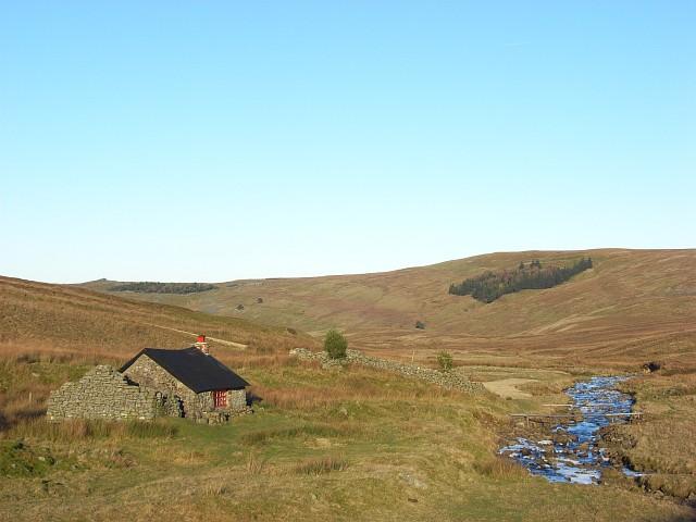 Old cottage beside Black Burn