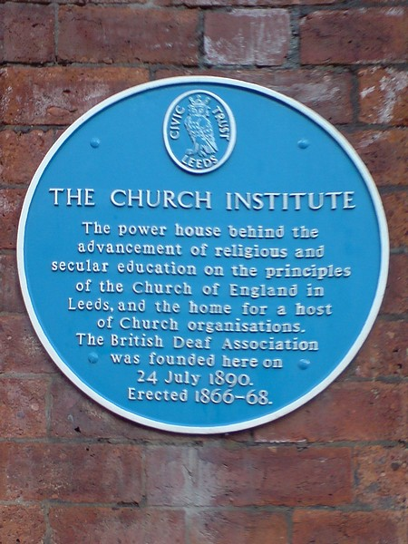 Blue Plaque, The Church Institute, Albion Place