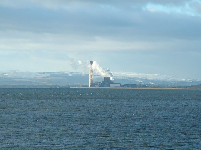 Longannet Power Station from the east