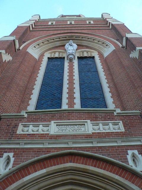 Corpus Christi church: tower detail