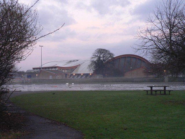Littledown: leisure centre and pond