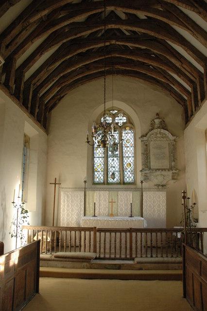 Interior of Didbrook church