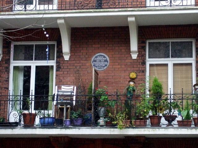 Lissenden Garden: Alice Zimmern lived here