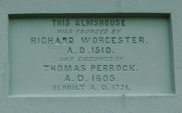 Inscription on Perrock's Almshouse, Old Gloucester Road