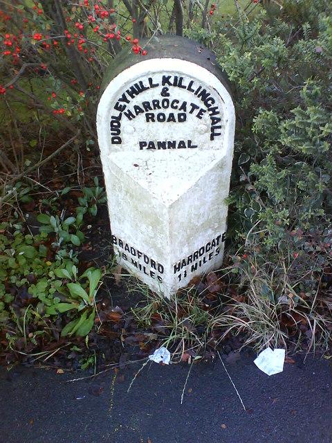 Milestone on Harlow Hill