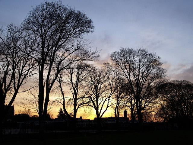 Sunrise over Ketwell School