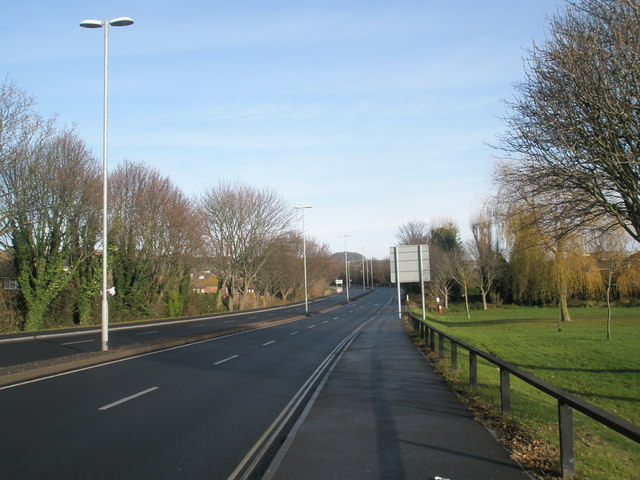 Looking north-east on the A2030