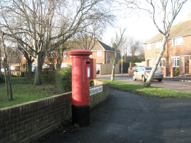Post box on the corner of Nutbourne Road