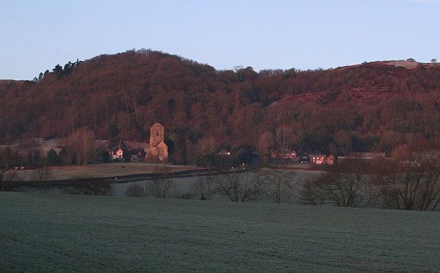Little Malvern Court, Priory and Farm at Dawn