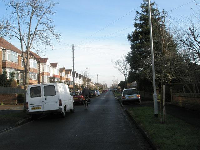 Looking eastwards down Grant Road