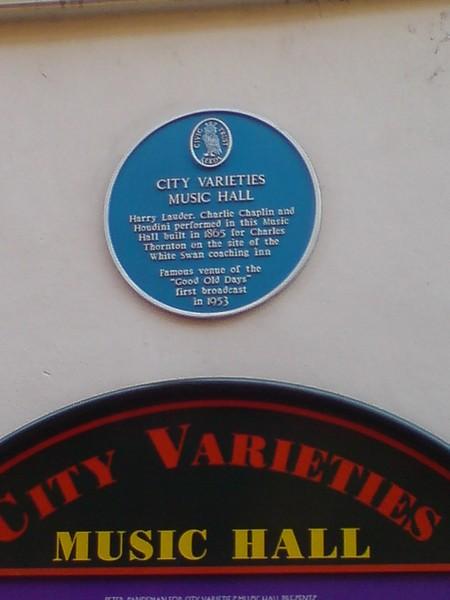 Blue Plaque, Leeds City Varieties