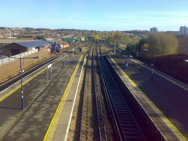 View from overbridge at St Mary Cray rail station