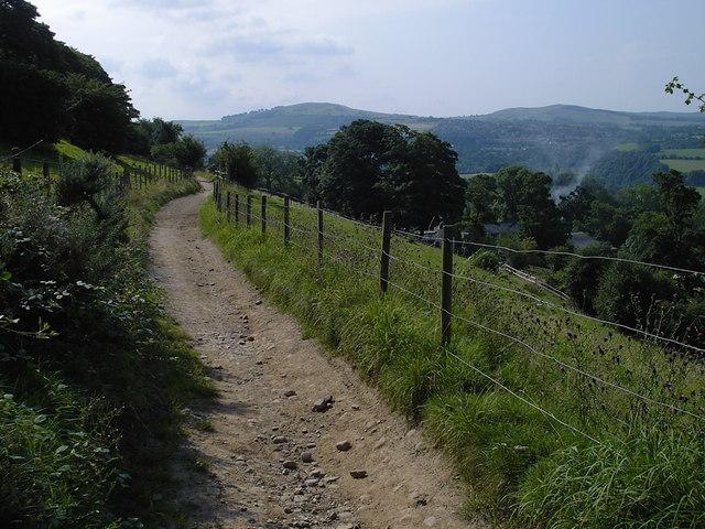 Strines - bridleway above Lower Cliffe Farm