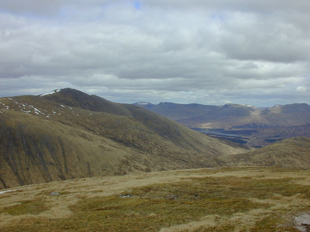 View east from Meall nan Eun