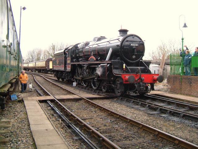 Black 5 at Alresford Station.