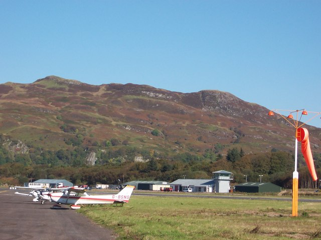 Light aircraft at Oban Airport