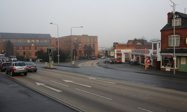 Junction of Nottingham Road with Mansfield Road