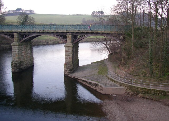 The eastern railway bridge, Crook o' Lune, Caton