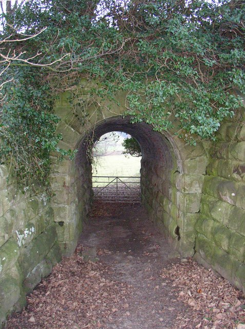 Field access bridge under the disused railway, Crook o' Lune, Caton