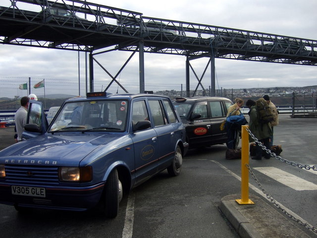 London taxicabs at  Fishguard Harbour