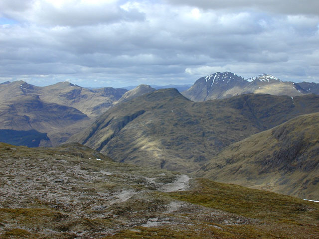 View north northwest from Meall nan Eun
