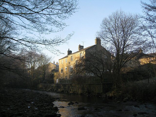 River Roeburn as it flows through the Wray village